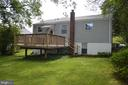 Another rear view of house with deck - 4712 EDGEWOOD RD, COLLEGE PARK