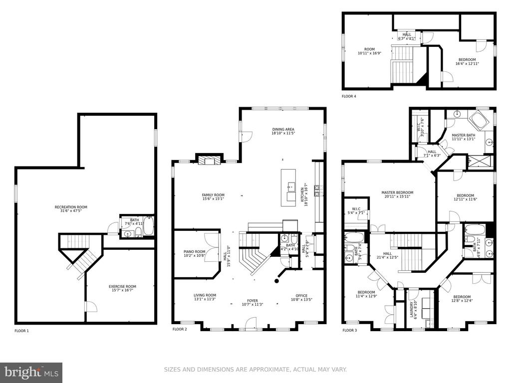 Floor Plan Whole House - 4509 MONROVIA BLVD, MONROVIA