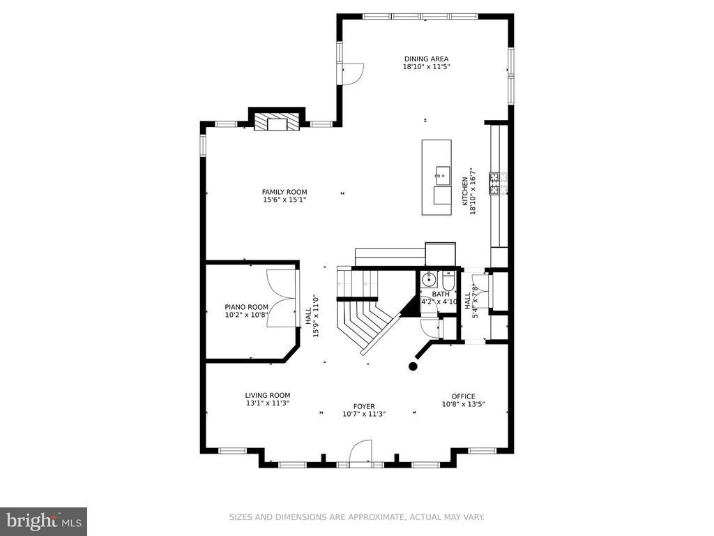 Floorplan Main Level - 4509 MONROVIA BLVD, MONROVIA