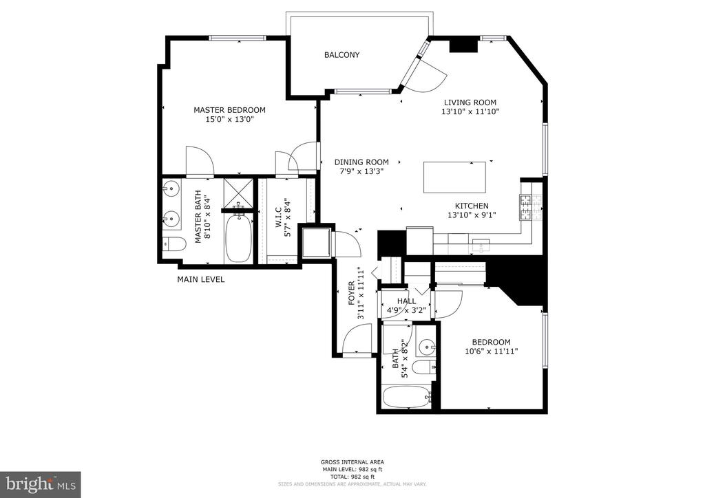 Actual square footage is 1039 sq ft - 3600 S GLEBE RD #823W, ARLINGTON