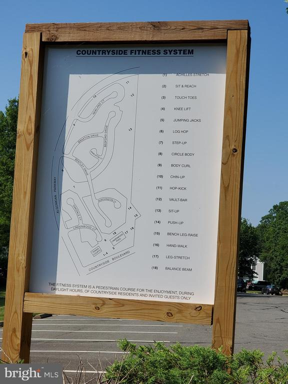Fitness station map of community - 26 WESTMORELAND DR, STERLING