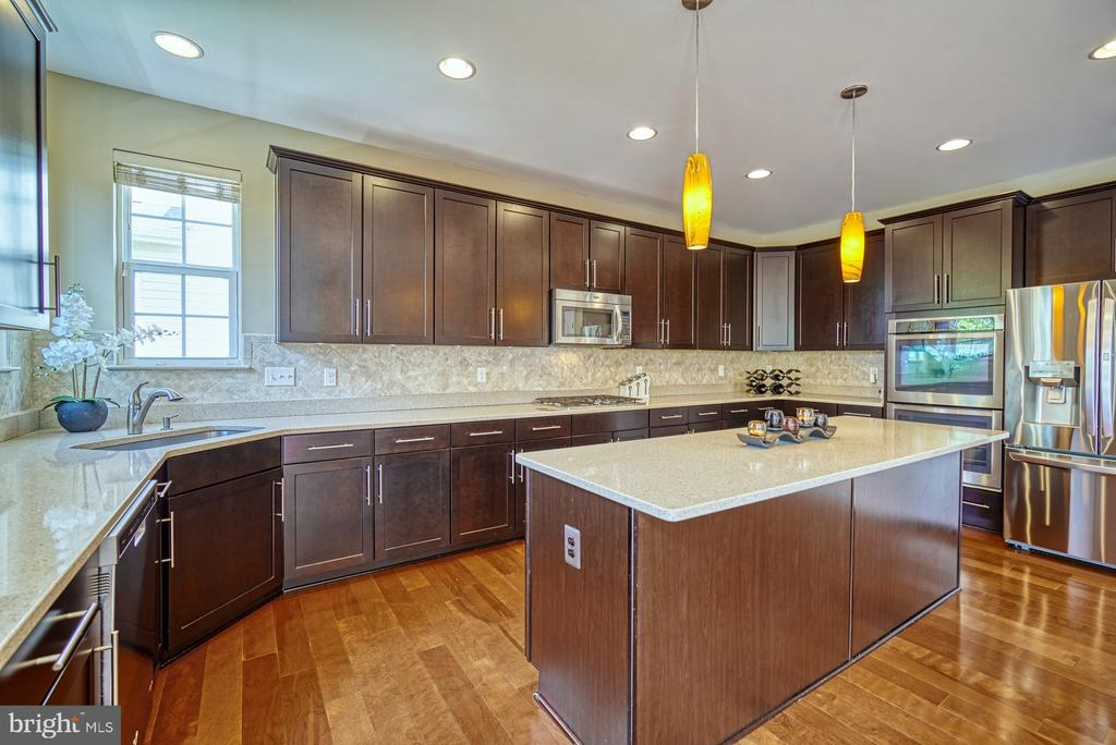 Gourmet Kitchen, Quartz Counters, SS Appliances - 42105 AUTUMN RAIN CIR, BRAMBLETON