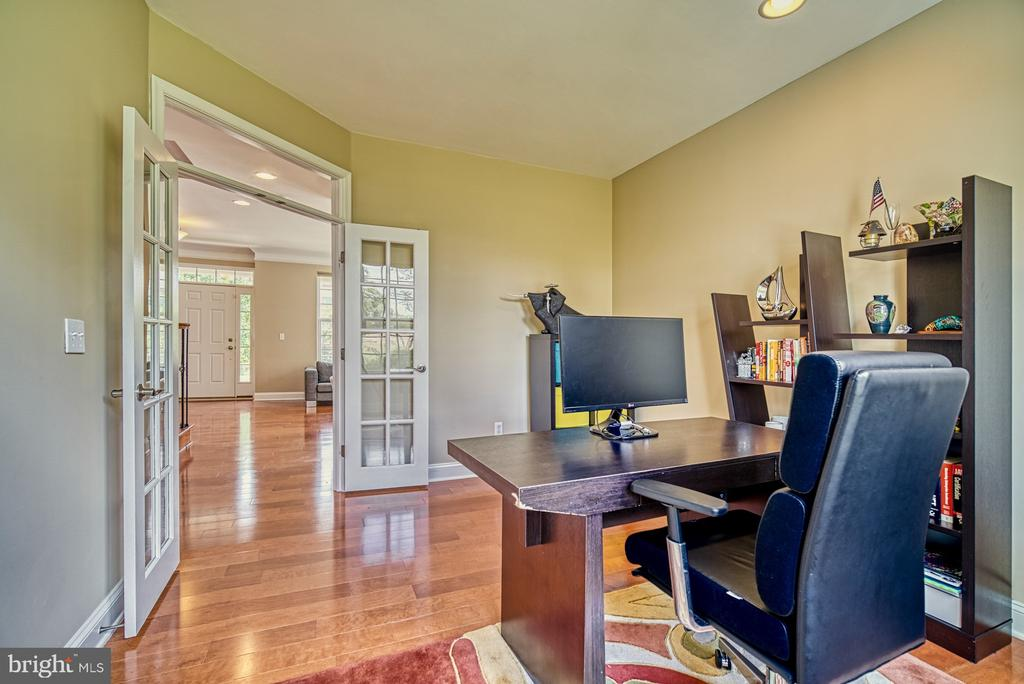 Main Level Home Office with French Doors - 42105 AUTUMN RAIN CIR, BRAMBLETON