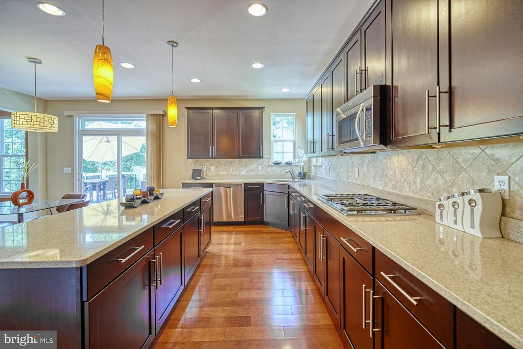 Gourmet Kitchen with Upgraded Cabinets, Hardware - 42105 AUTUMN RAIN CIR, BRAMBLETON