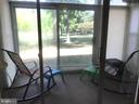 Porch overlooking open space - 3301 S LEISURE WORLD BLVD #99-1G, SILVER SPRING