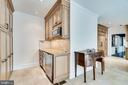 Separate wine bar with ice-maker and refrigerator - 3812 WASHINGTON WOODS DR, ALEXANDRIA