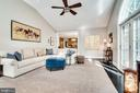 Family room with high ceilings and backyard access - 3812 WASHINGTON WOODS DR, ALEXANDRIA