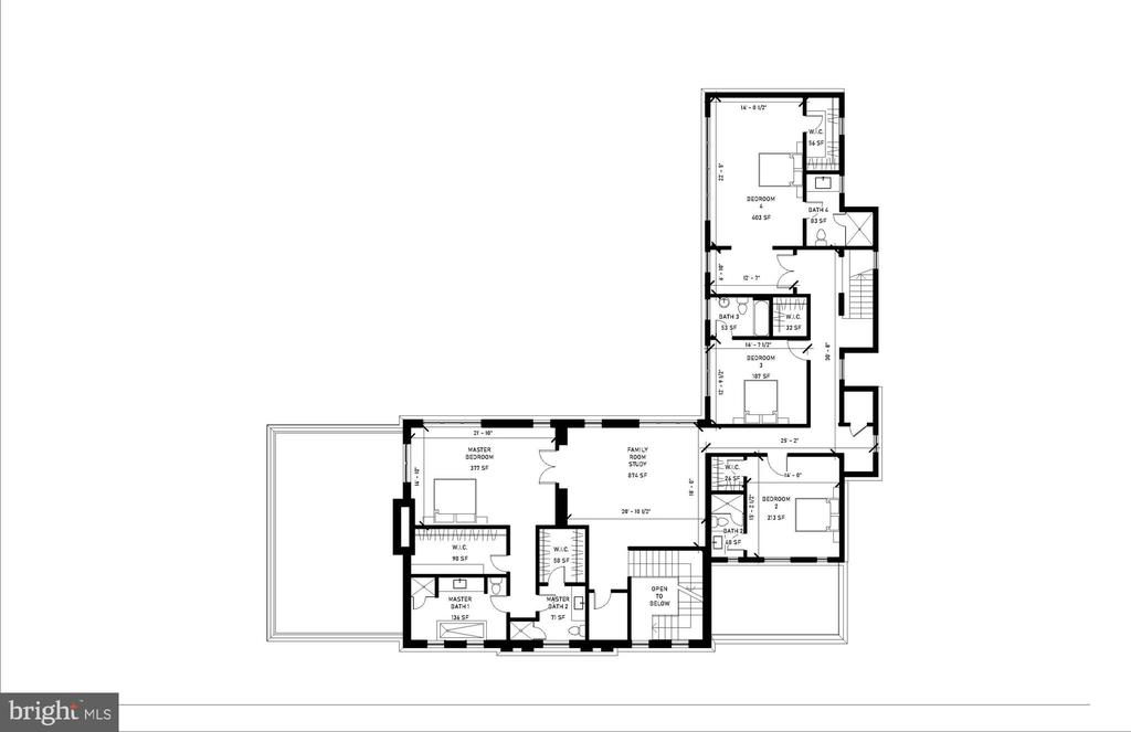 Second Level Floor Plan - 2700 FOXHALL RD NW, WASHINGTON