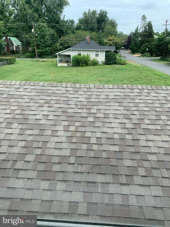 Roof looking out 2nd floor window.  View out back - 600 W WASHINGTON ST, MIDDLEBURG
