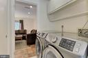 Laundry Room - 3729-A MADISON LN, FALLS CHURCH