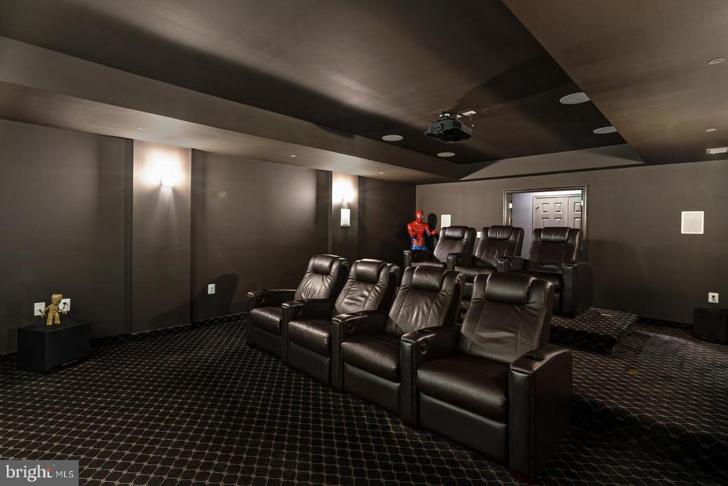 Theater with 13 Rodgers Sound Labs speakers - 41932 CLOVER VALLEY CT, ASHBURN