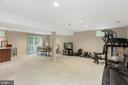 Wonderful Finished Lower Level Rec Area - 1958 BARTON HILL RD, RESTON
