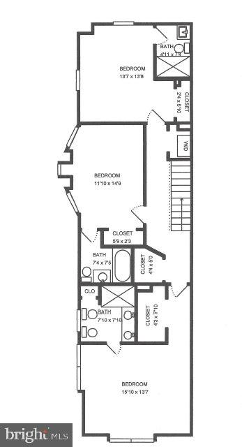 2nd Level Floor Plan - 3518 10TH ST NW #B, WASHINGTON