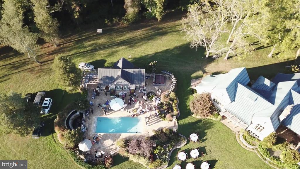 Aerial of Pool House - 8080 ENON CHURCH RD, THE PLAINS