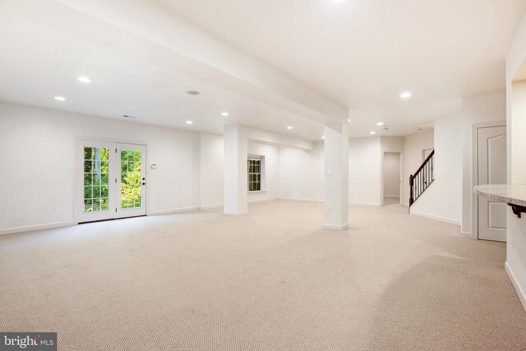 Recreation Room - Walk-out Lower Level - 1351 BLAIRSTONE DR, VIENNA