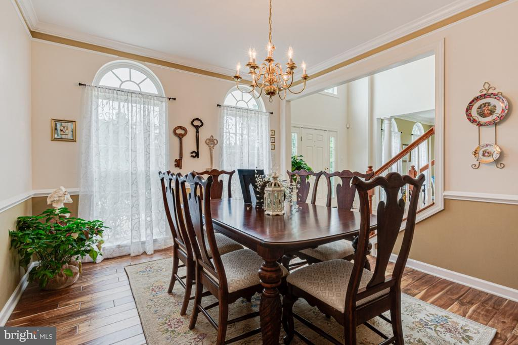 Dining Room w/ updated wide plank hardwood floors - 492 CRUSADER DR, SYKESVILLE