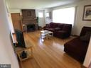 Living Room / Fireplace - 9525 RIGGS RD, ADELPHI
