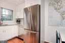 Kitchen - Subway Tile, French Double Door Fridge! - 7758 NEW PROVIDENCE DR #10, FALLS CHURCH