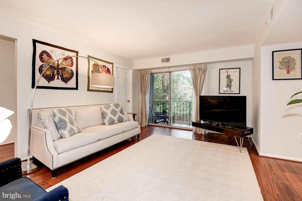 Living Room - Leads Outside to Private Balcony! - 7758 NEW PROVIDENCE DR #10, FALLS CHURCH