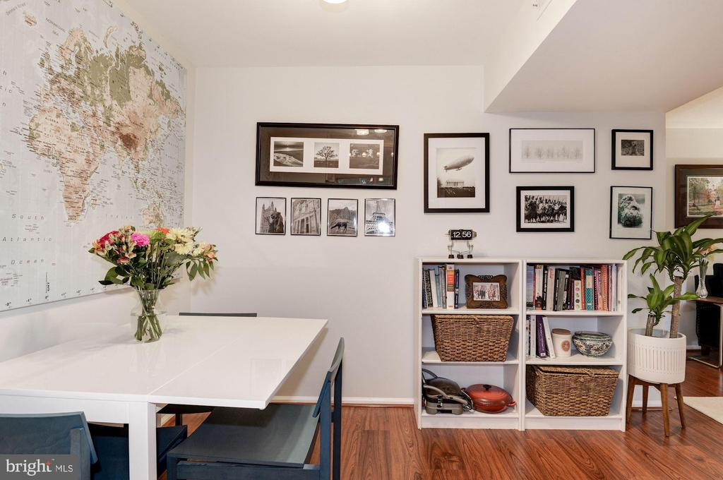 Dining Room - Wide Plank Flooring, Freshly Painted - 7758 NEW PROVIDENCE DR #10, FALLS CHURCH