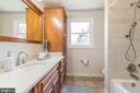 Beautifully update upper level hall bath - 10832 MIDDLEBORO DR, DAMASCUS