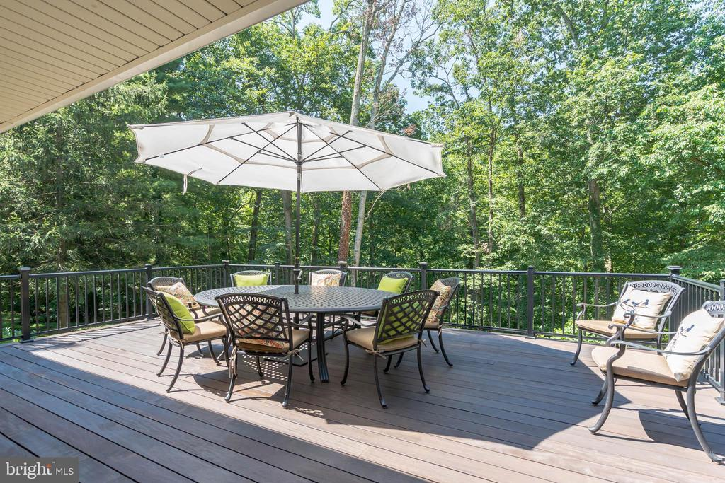 Beautiful deck constructed with IPE Brazilian wood - 10832 MIDDLEBORO DR, DAMASCUS