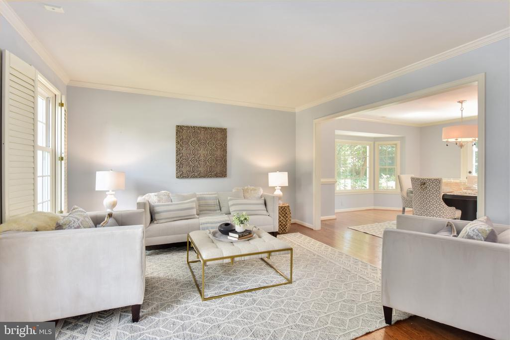 Large formal living room - 1000 DARTMOUTH RD, ALEXANDRIA