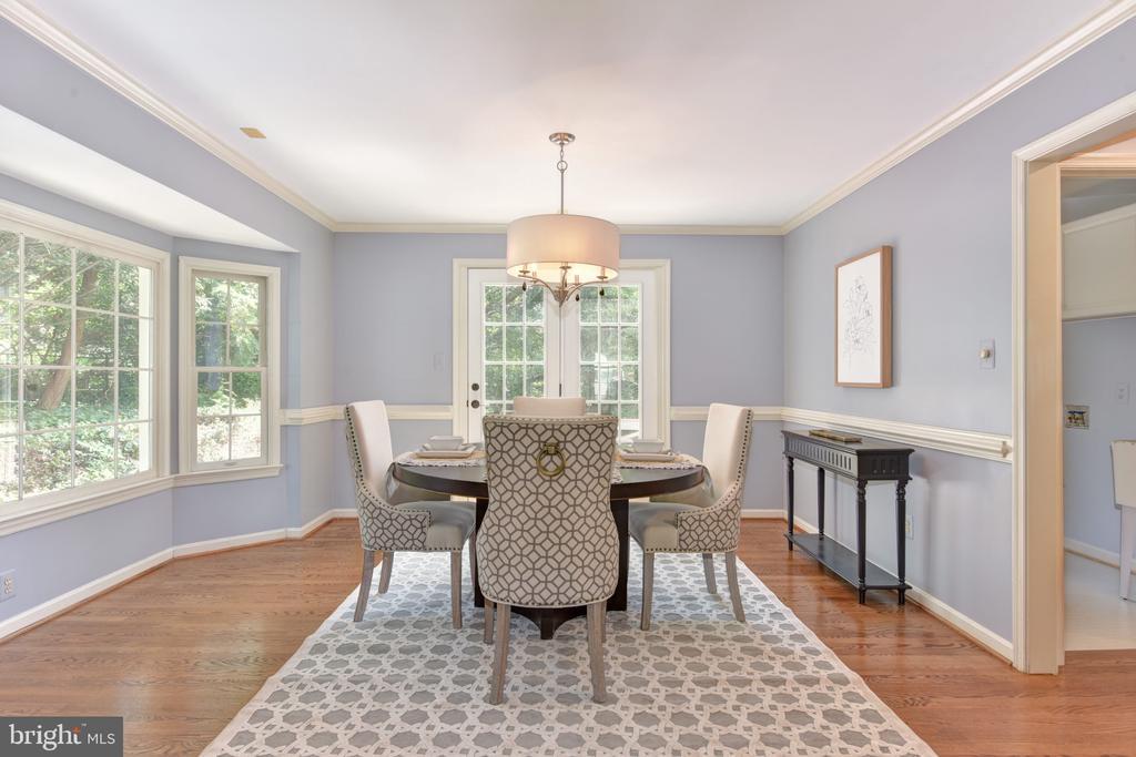 Formal dining room - 1000 DARTMOUTH RD, ALEXANDRIA