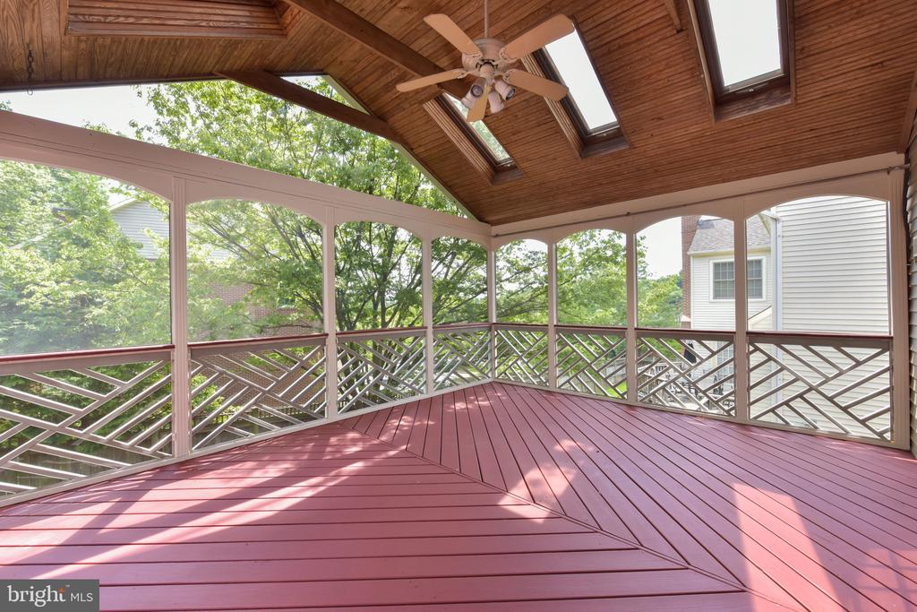 Screened porch off main level family room - 1000 DARTMOUTH RD, ALEXANDRIA