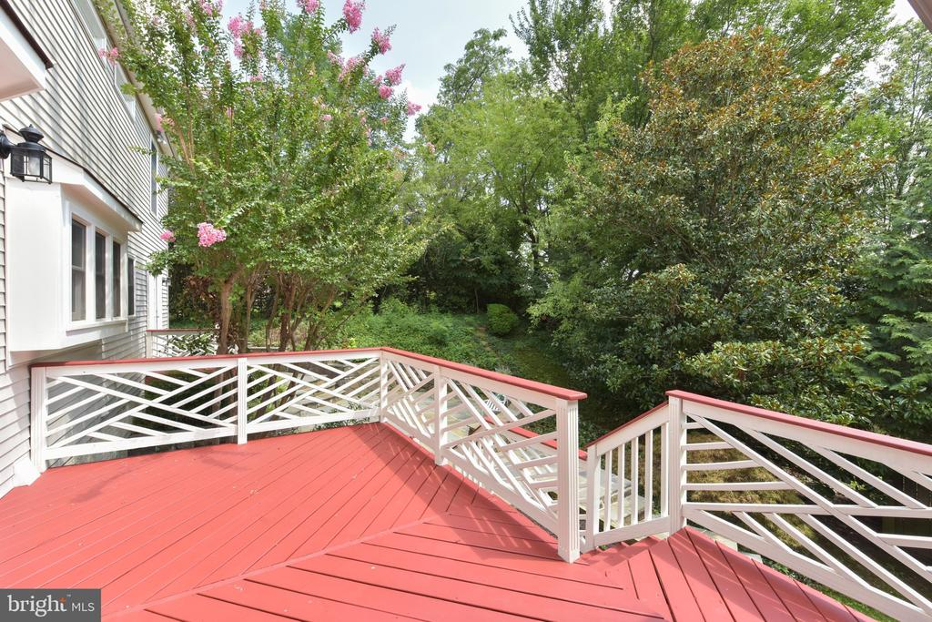 Large deck off breakfast room - 1000 DARTMOUTH RD, ALEXANDRIA
