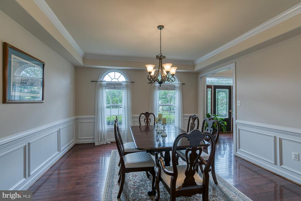 Dining Room with Crown,Tray and Box Moldings - 5 ABRAHAM CT, STAFFORD