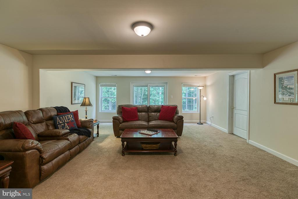 Rec Room with Walk Out to Patio - 5 ABRAHAM CT, STAFFORD