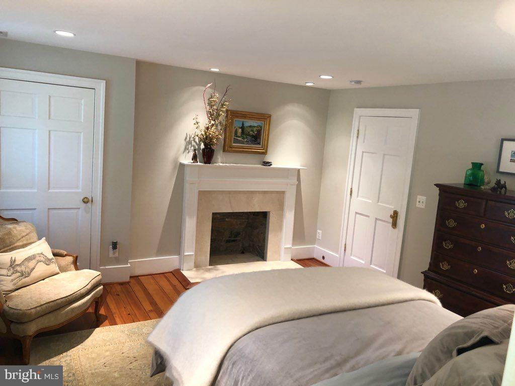 Guest Bedroom w/ fireplace - 19200 ORCHARD MANOR LN, LEESBURG