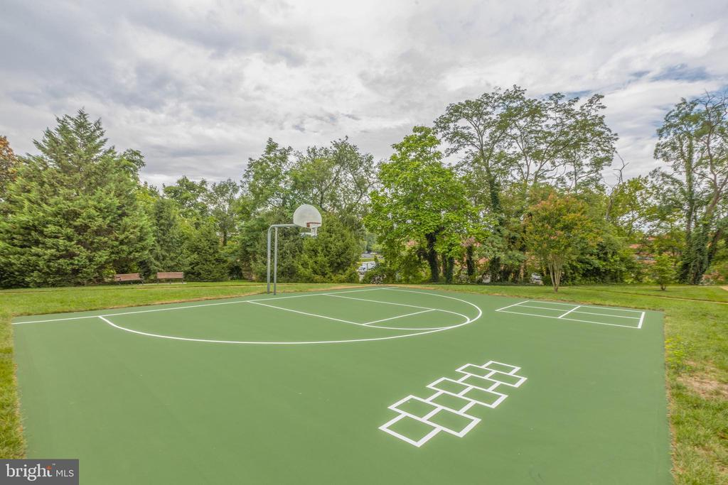 Newly resurfaced community basketball court - 6495 TAYACK PL #201, ALEXANDRIA