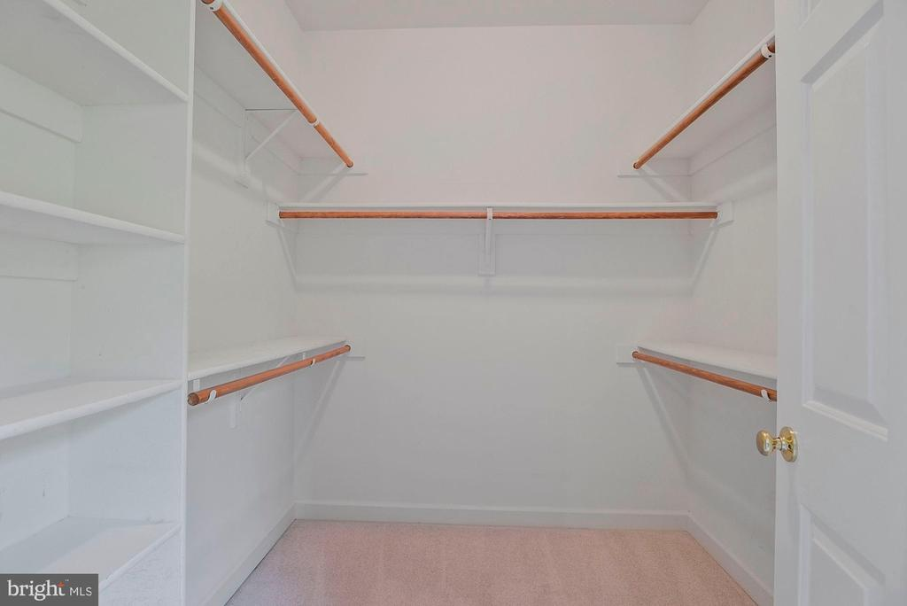 Owner's walk-in closet, 1 of 2 - 11308 KNIGHTS LANDING CT, LAUREL
