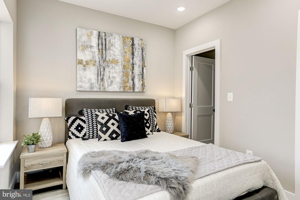 Bedroom one - so much light! - 1206 LONGFELLOW ST NW #5, WASHINGTON