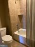Upper Hall Bath - Privacy Commode, Tile Surround - 15607 GREAT BRIDGE LN, CULPEPER
