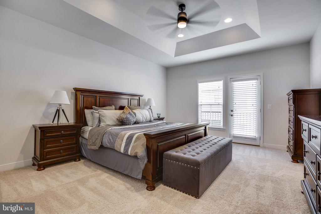 Large master with tray ceiling and fan - 42308 IMPERVIOUS TER, BRAMBLETON