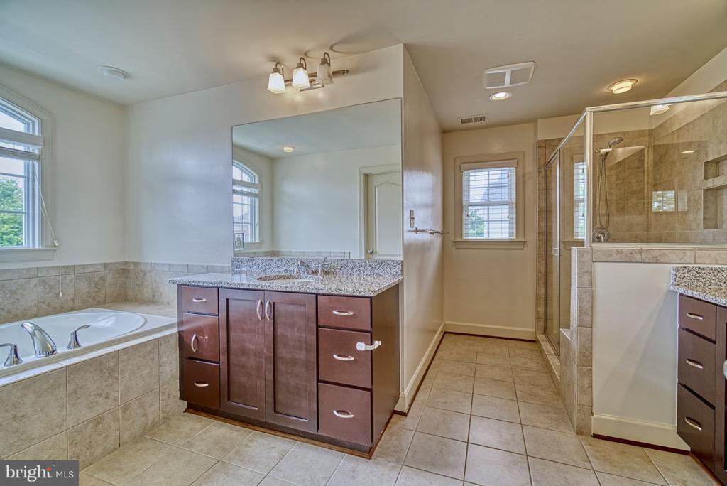 Spacious Master Bathroom - 42439 MERIDIAN HILL DR, BRAMBLETON