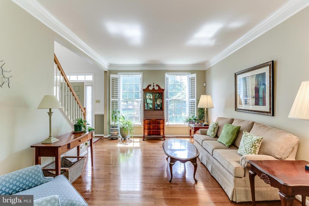 Living Room- Gorgeous Plantation Shutters! - 8728 HIDDEN POOL CT, LAUREL