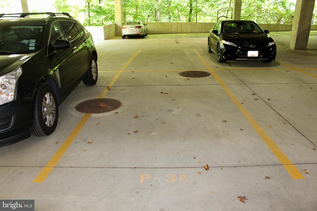 Parking space in covered garage - 9610 DEWITT DR #PH412, SILVER SPRING