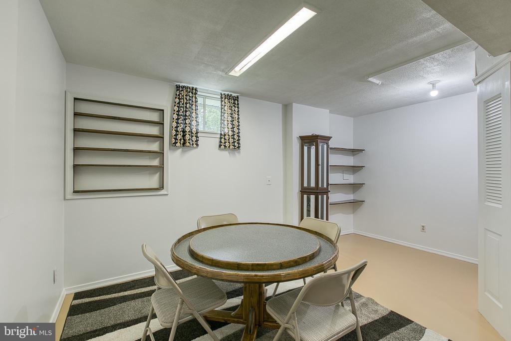 Expansive rec room with handmade built-in shelves - 10517 CEDAR CREEK DR, MANASSAS