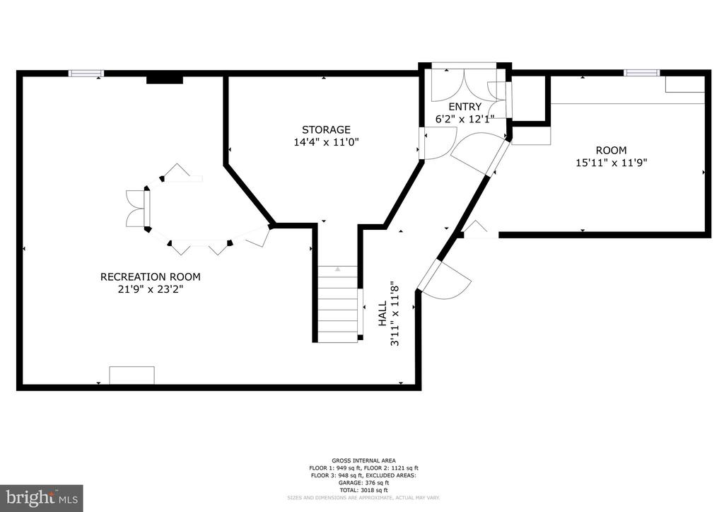 Basement (does not include unfinished storage) - 10517 CEDAR CREEK DR, MANASSAS
