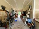 Tandem Garage - Window and man door to rear yard - 15607 GREAT BRIDGE LN, CULPEPER