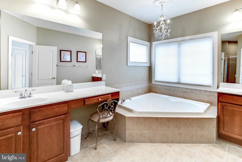 Luxury master bath w/soaking tub & separate shower - 43600 CANAL FORD TER, LEESBURG