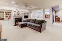 Recreation room w/gas fireplace & built-ins - 43600 CANAL FORD TER, LEESBURG