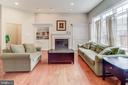 Family Rm*Gas fireplace*Blt-in shelving/cabinetry - 43600 CANAL FORD TER, LEESBURG