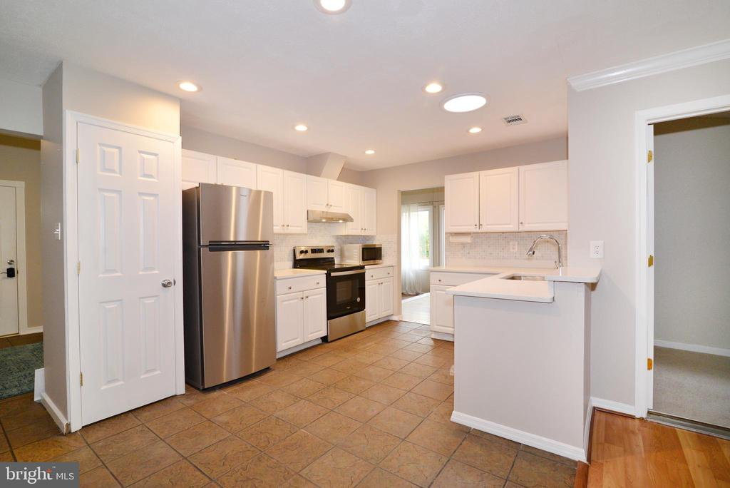 Kitchen NEW SS appliances and quartz countertops - 246 W MEADOWLAND LN, STERLING