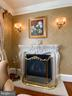 Owner's retreat carved stone fireplace - 40483 GRENATA PRESERVE PL, LEESBURG