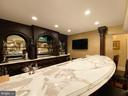 Lower level bar with marble counter tops - 40483 GRENATA PRESERVE PL, LEESBURG